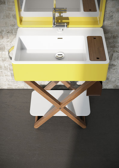 My Bag - My.bag basin suitcase with mirror by Olympia Ceramica
