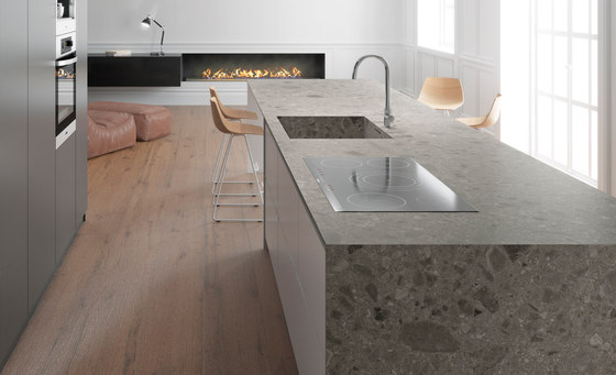 Iseo iTOPKer Gris Bush-hammered de INALCO