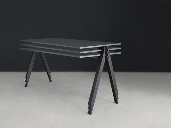 yuno stacking table by Wiesner-Hager