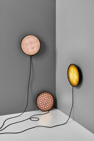 Moiré Wall Light   Hexagon   Copper by NEW WORKS