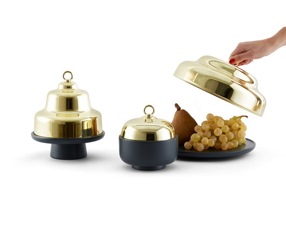 Belle - Small green container & brass cover de Incipit Lab srl