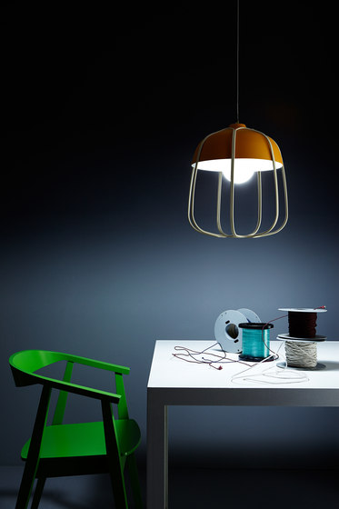 Tull - Desk/floor anthracite/turquoise de Incipit Lab srl