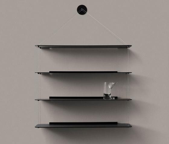 Wire Bookcase black oak by Karakter Copenhagen