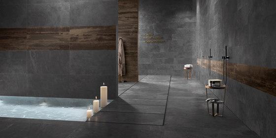 Stonework ardesia nera muretto di Ceramiche Supergres