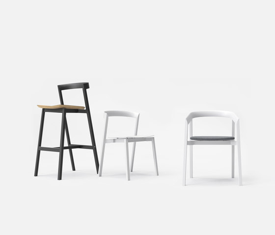 Mornington Dining Chair with Aluminium Seat by VUUE
