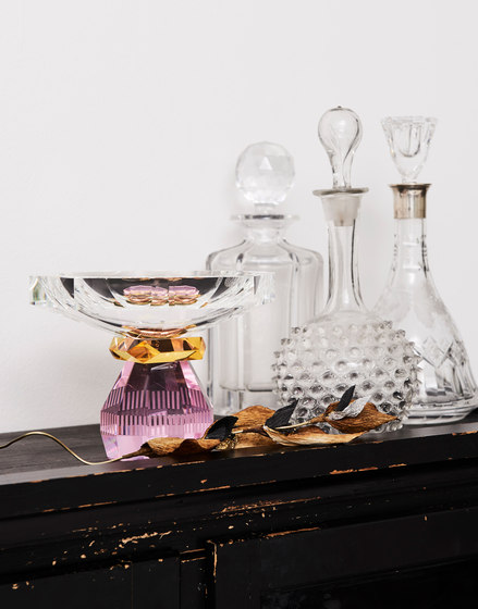 Madison Bowl clear / yellow / rose by Reflections Copenhagen
