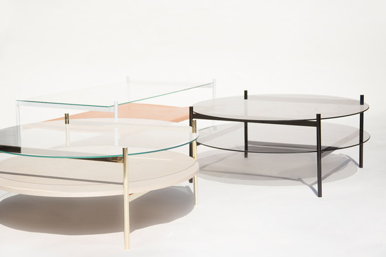 Duotone Circular Coffee Table | Brass /  Birch de Yield