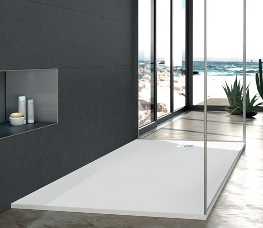 "blu•stone™ shower base 59"" by Blu Bathworks"