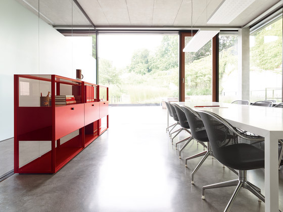 Mesh Office Desk by Piure