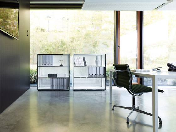 Mesh Office Desk by Piure