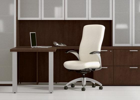 Aurora Desk - Mid Back by National Office Furniture