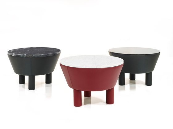 Leather Side Table 30 de Wittmann