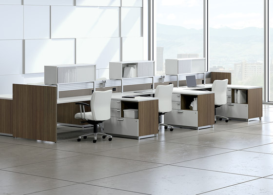 Epicenter Partitions and Desk Systems de National Office Furniture