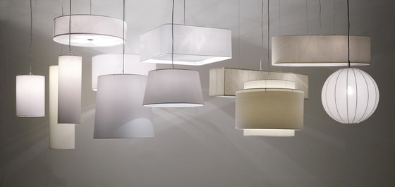 Fabric Pendants - Mirroring PVC Pendants by Penta