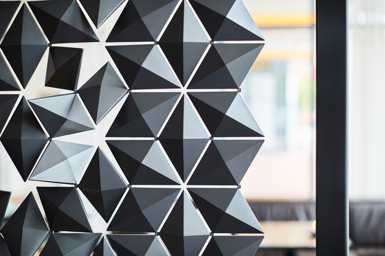 Freestanding Room Divider Facet - graphite by Bloomming