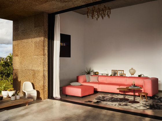 Soft Modular Sofa 3-Seater, Ottoman by Vitra