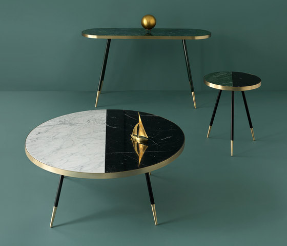 Band marble side table by Bethan Gray
