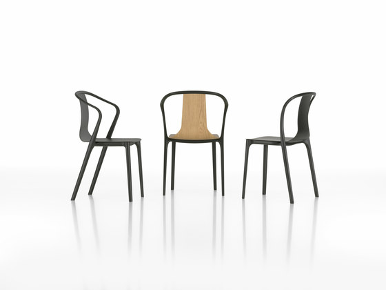 Belleville Chair Wood de Vitra
