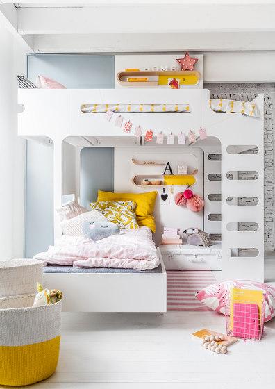 F&A bed - set for 2 kids - dark chocolate de RAFA kids