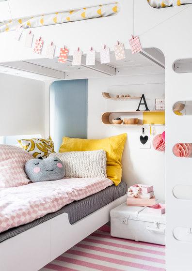 F&A bed - set for 2 kids - dark chocolate by RAFA kids