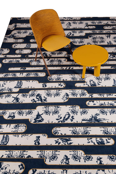 Dutch Sky | gold rug di moooi carpets