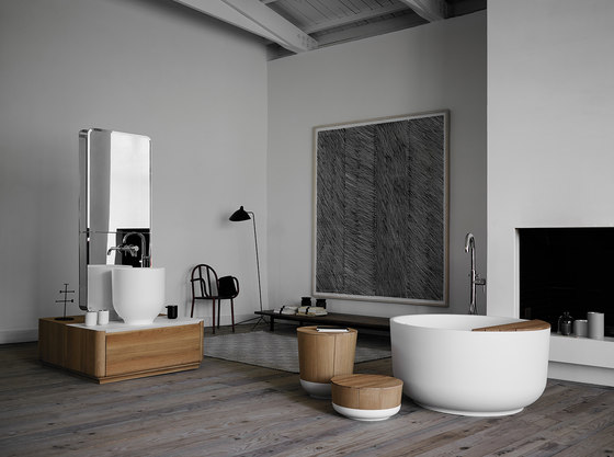 Origin Freestanding Matt Ceramilux Bathtub di Inbani