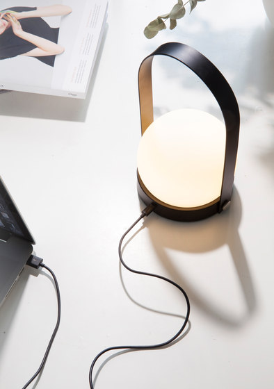 Carrie Table Lamp | Brushed Brass by MENU