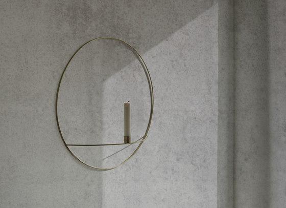 POV Circle Tealight Holder | L Brass by MENU