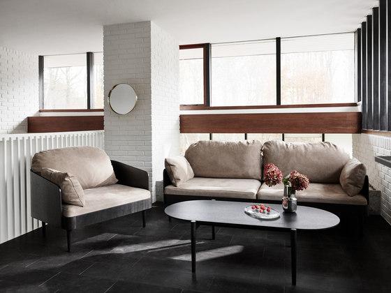 Septembre Sofa | Black Ash/Light Grey de MENU