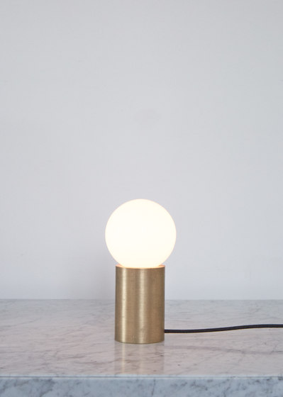 Socket | Occasional Lamp Brushed Brass by MENU