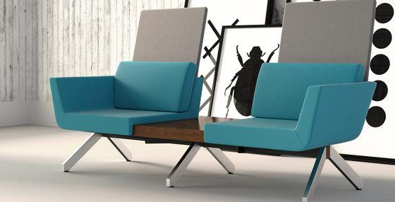 Palomino Guest Chair + Ottoman by Leland International