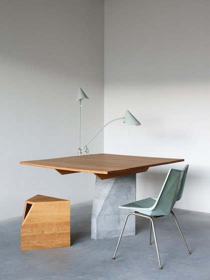 Ply 3 Series – Dining table 2 bases by Van Rossum