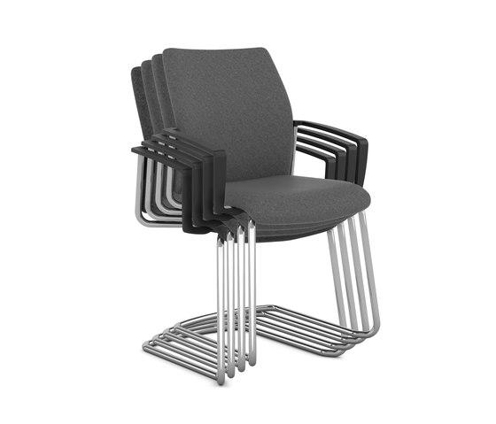 F2 Four-Legged Visitor Chair de Viasit