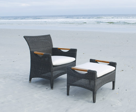 Culebra Club Chair + Ottoman by Kingsley Bate