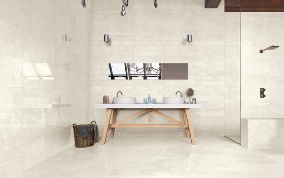 Marstood | Marble 02 | Silver Travertine Mosaic matt by Ceramica Magica