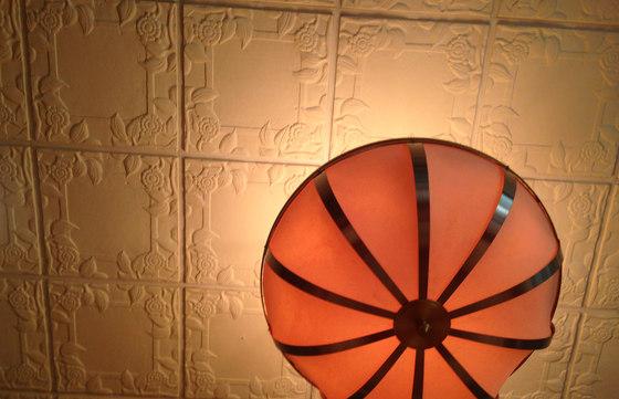 Spanish Rose Blank Center Ceiling Tile de Above View Inc