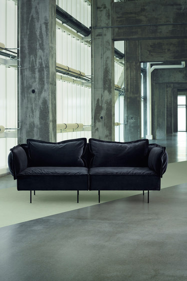3-Seat sofa with chaise - dark grey di HANDVÄRK