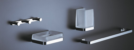 Soap dispenser and towel holder by COLOMBO DESIGN