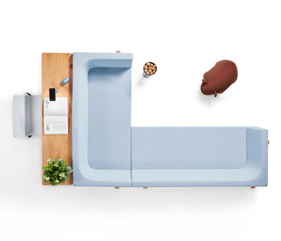 Homework sofa, highback (left) de Les Basic