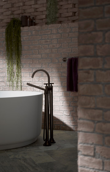 VAIA - Five-hole bath mixer for deck mounting with diverter by Dornbracht