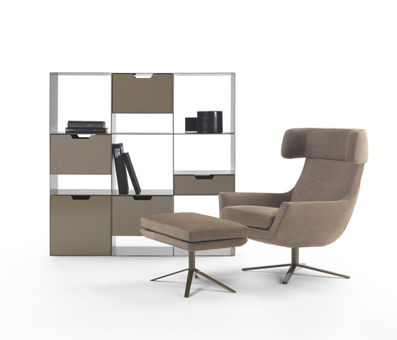 Joy swivel armchair by Marelli