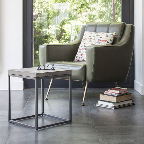 Perspective Concrete and Steel Side Table by Pfeifer Studio