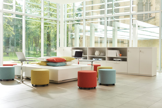 Collaborative Ottoman by Teknion