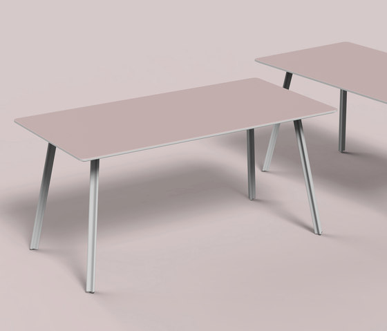 Beam linoleum table by Faust Linoleum