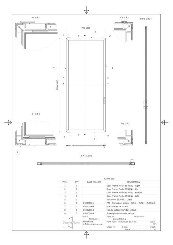 Portapivot 6530 XL | bronze anodized de PortaPivot