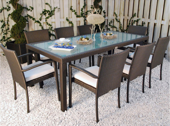 "Marbella 36"" Square Dining Table de Kannoa"