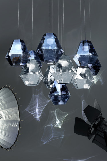 Cut Tall Pendant Smoke by Tom Dixon
