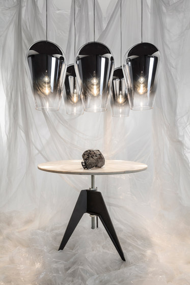Fade Pendant Chrome 50cm by Tom Dixon