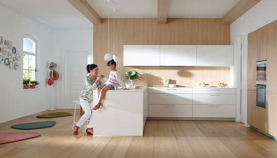 ARIANE 2 White Seff and Natural Oak by Santos