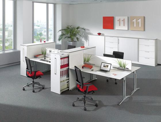 """Workflow Steh-/Sitz-Tisch T 5000 Workflowkombination """"120 Grad"""" de C+P Möbelsysteme"""